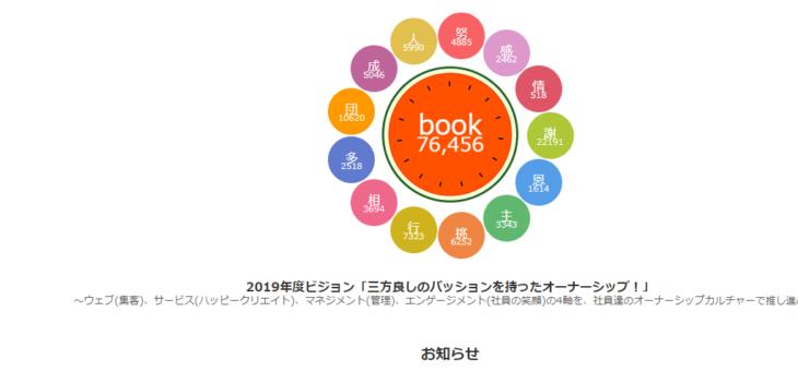 社員コミュニケーションの促進で、企業文化を共有!社内SNS、book!